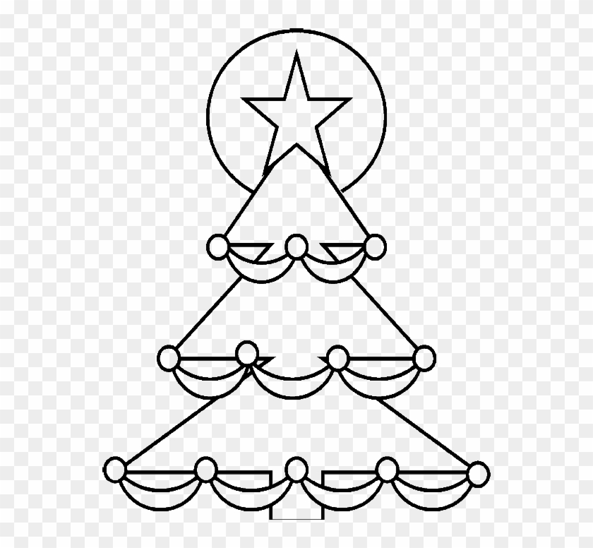 christmas tree with a star shining coloring pages christmas easy coloring pages
