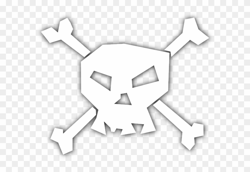 Skull N Bones White - Pirate Skulls And Bones #1077741
