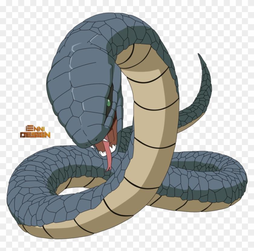 Blue Snake By Iennidesign - Anime Snake Png #1078712