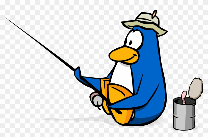 Vector illustration of cartoon penguin with earmuffs and scarf eats an ice  cream.
