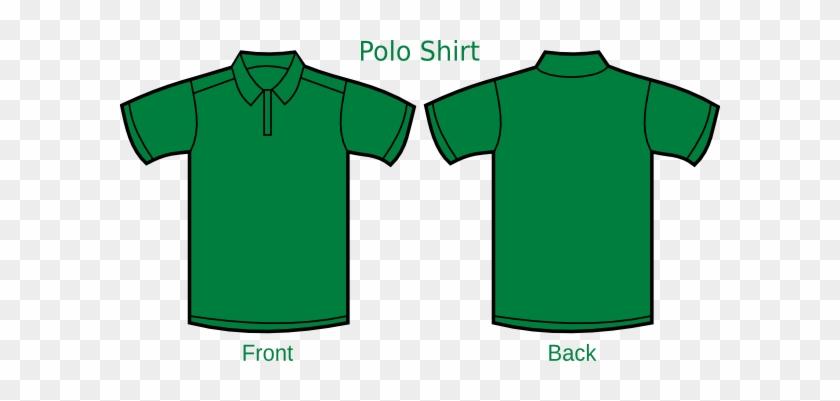 Darkgreen Poloshirt Template Clip Art - Dark Green Polo Shirt Front And Back #1079505