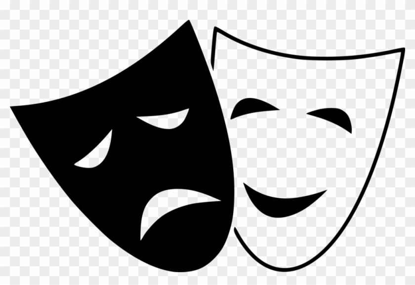 Comedy Tragedy Masks - Comedy And Tragedy Masks #1080311
