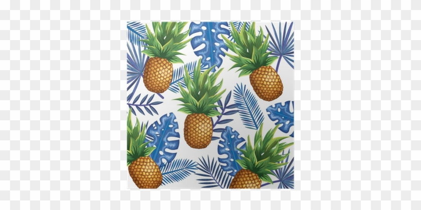 Tropical Garden With Pineapple Vector Illustration - Pineapple Vector #1082244