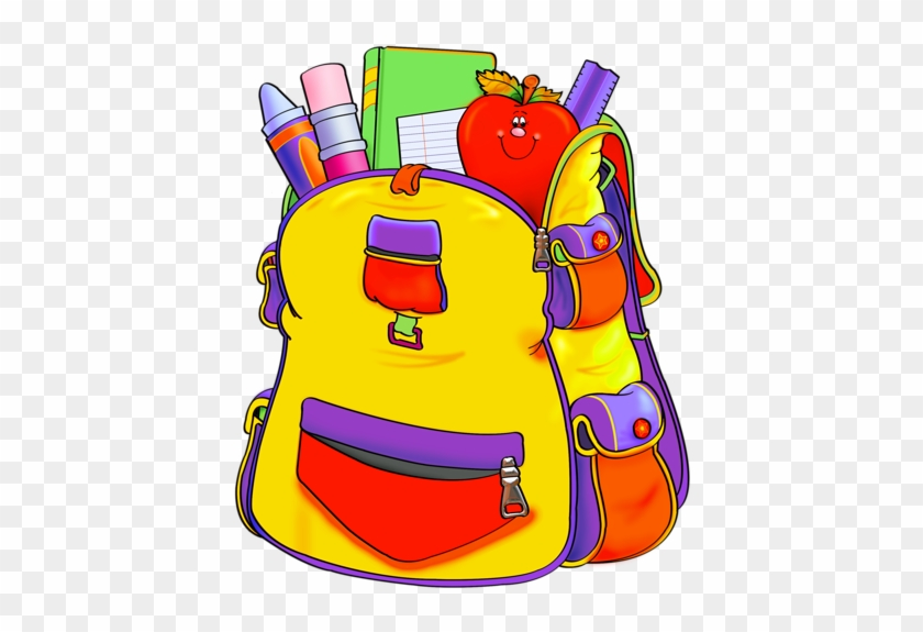 13 - Backpack School Supplies Clipart #1082741