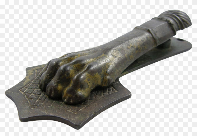 Paperholder Paperclip, Lion Paw, Ca - Bronze Sculpture #1082747