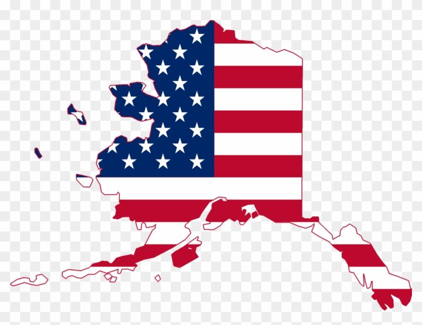 Flag Map Of Alaska - Alaska With Us Flag - Free Transparent PNG ...