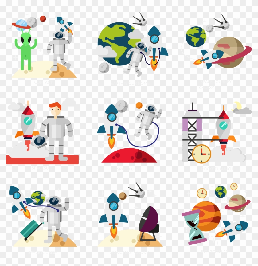 Space Exploration Outer Space Clip Art - Stock Illustration #1083847