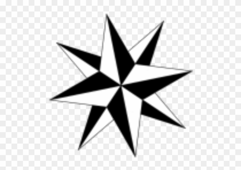 Line Compass Arrow Tattoo #1084166