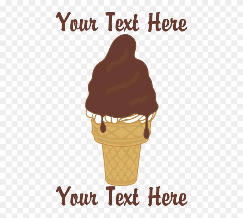 Personalized Chocolate Dip Ice Cream Cube Ottoman - Chocolate Dip Ice Cream Cone Beach Towel #1084946