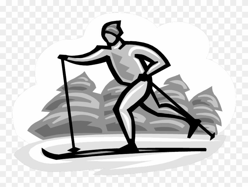 Открытка с победой в соревнованиях по лыжным гонкам, учителям марта