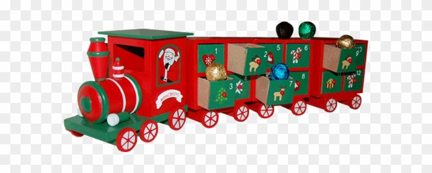Luxury Wooden Advent Calendar Santa Train And Handmade Model Car