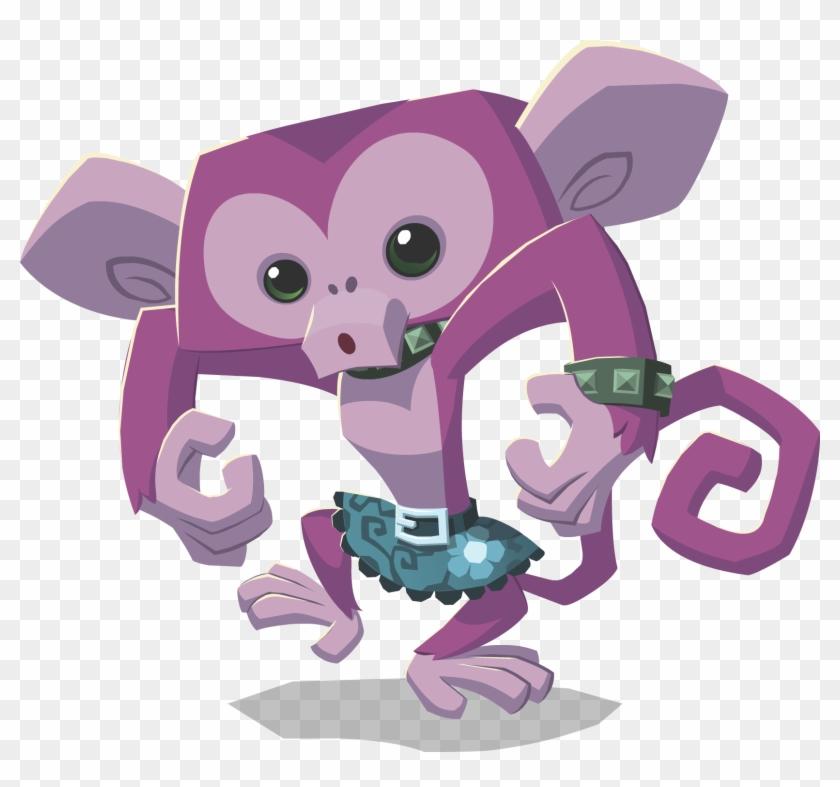 Monkey Wearing Spikes - Animal Jam Monkey Png - Free