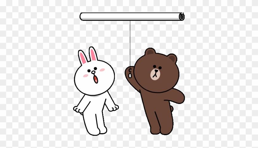 Brown & Cony's Big Love Stickers - Big Love Gif #1087535