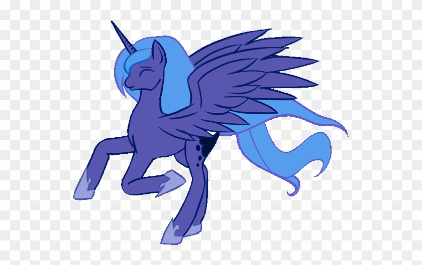 Alicorn, Animated, Artist - Horse Running Gif Png #1087690