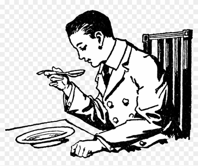 Man Eating Food Clipart #1088186