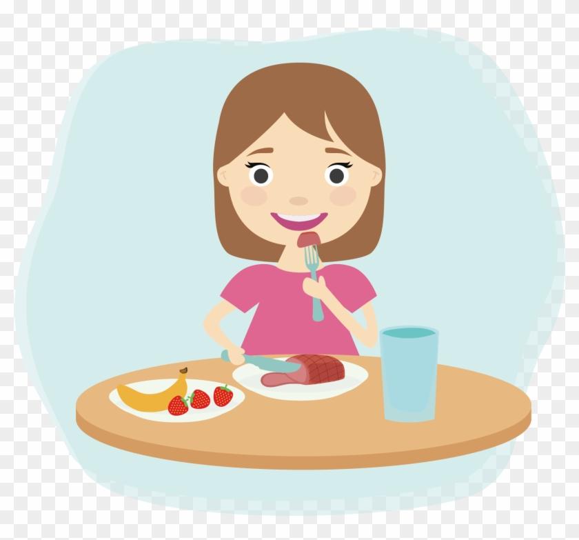 Breakfast Eating Child Clip Art - Eating Breakfast Clip Art #1088190