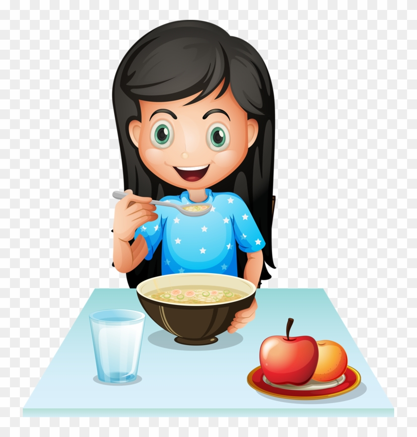 Breakfast Cereal Eating Fast Food Clip Art - Eating Cereal Clipart #1088214