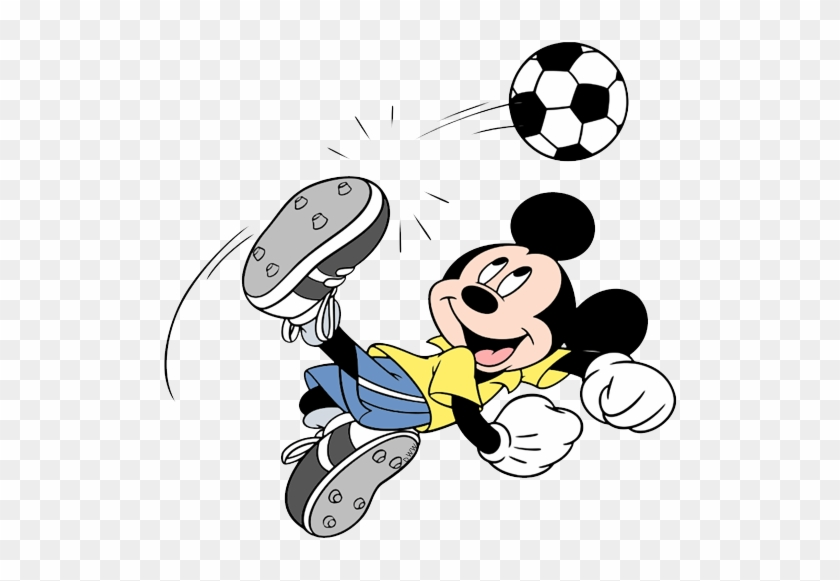 Mickey Playing Soccer Mickey Mouse Soccer Coloring Pages Free