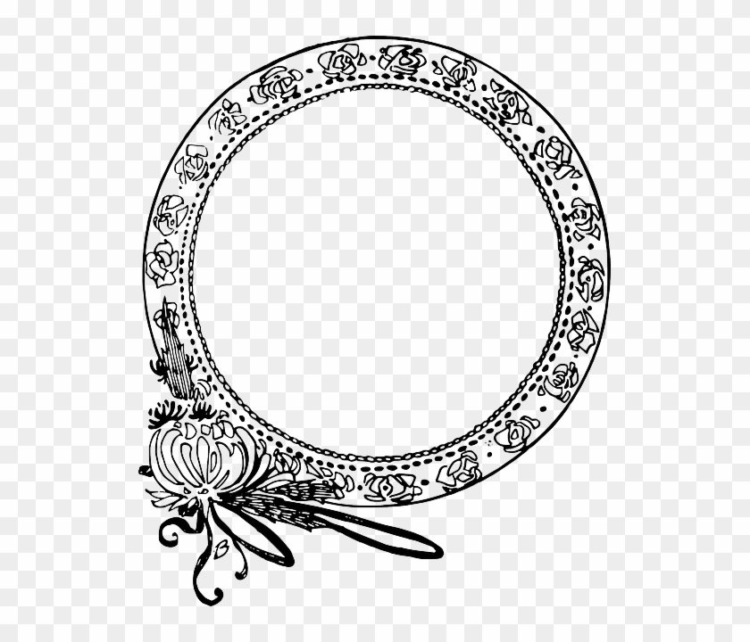 circle decorative flower frame clipart borders round free