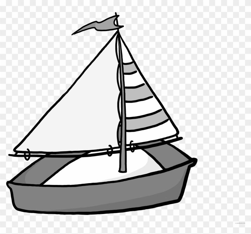 Cartoon Sailboat Transportation Free Black White Clipart Boat Clipart Transparent Background Free Transparent Png Clipart Images Download