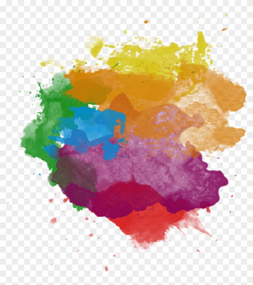 Paint Splash Colors Stroke Splatter Red Orange Yellow - Paint Overlay #1088827