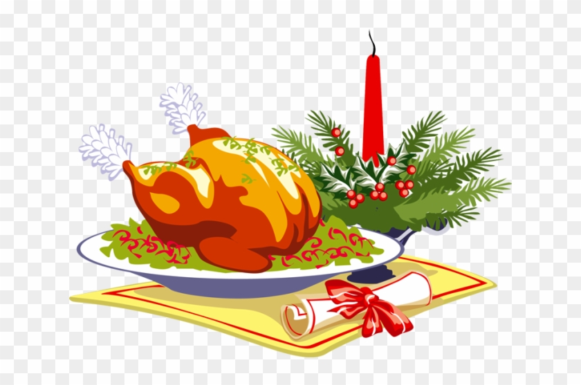 Christmas Food Clip Art - Thanksgiving Dinner Greeting Card #1088947