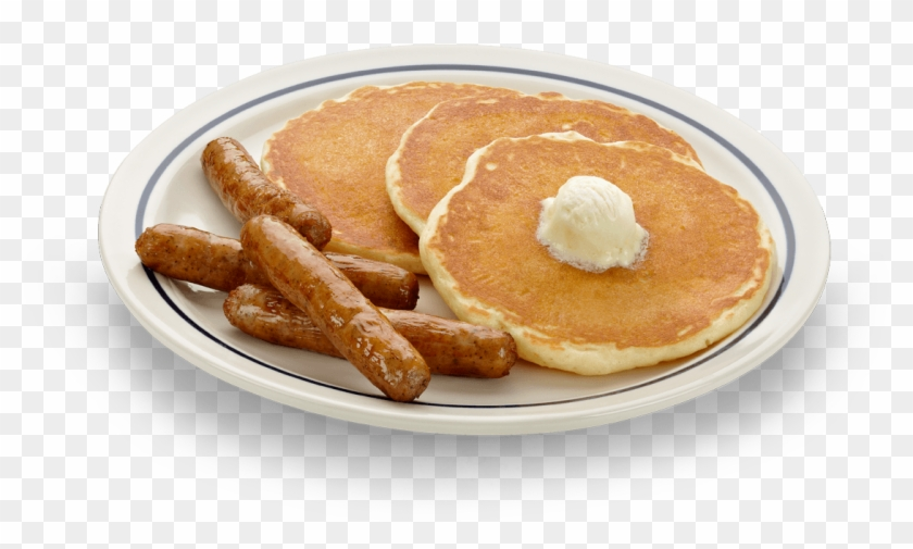 An Illustration Of A Plate Of Breakfast Food Royalty - Pancake And Sausage Breakfast #1088974