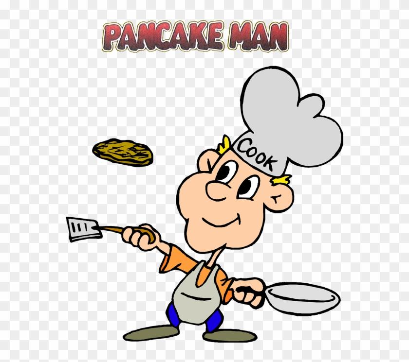 Pancake Man Recipe Pack - Clipart Of Pancake Breakfast #1089251