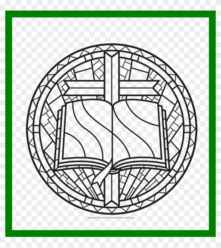 Printable Stained Glass Window Coloring Pages With Rose Window