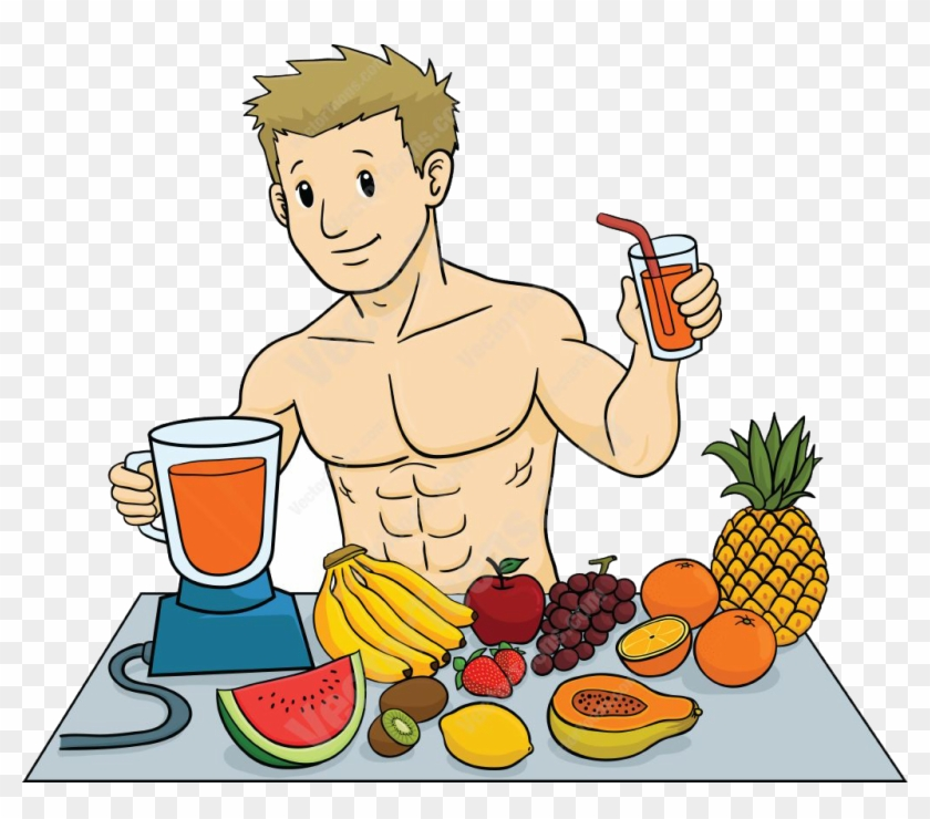 Members Eating Healthy Food Cartoon Free Transparent Png Clipart Images Download