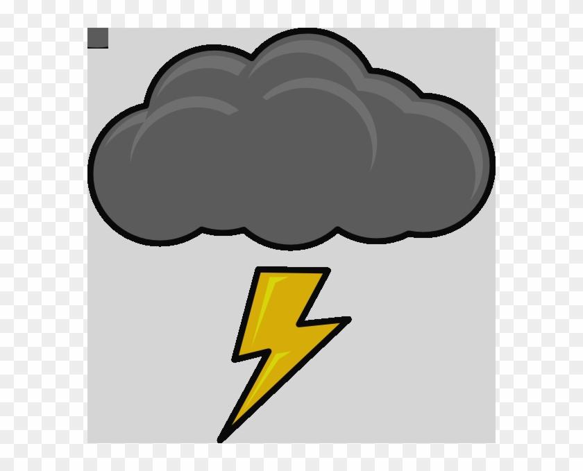 Cloud With Lightning Bolt Clip Art At Clker Cloud Lightning - Cartoon Thunder Cloud #1090680