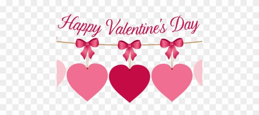 Happy Valentines Day Heart Banner - Happy Valentines Day 2018 #1091128