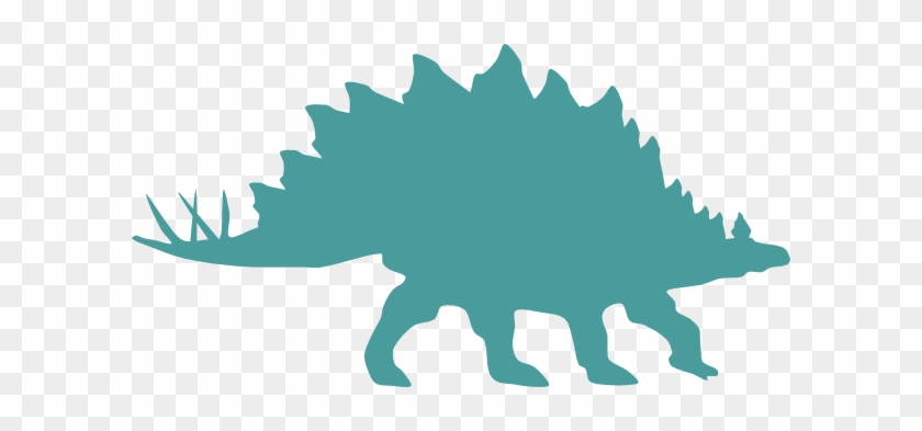 Dinosaur Clip Art At Clker - Custom Stegosaurus Silhouette Shower Curtain #1092731