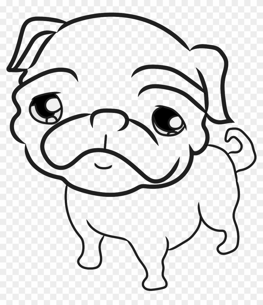 Pug Pug Drawing Template Free Transparent Png Clipart Images