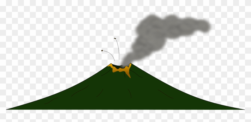 Geologist Watching A Volcanic Eruption - Royalty Free Clipart Picture
