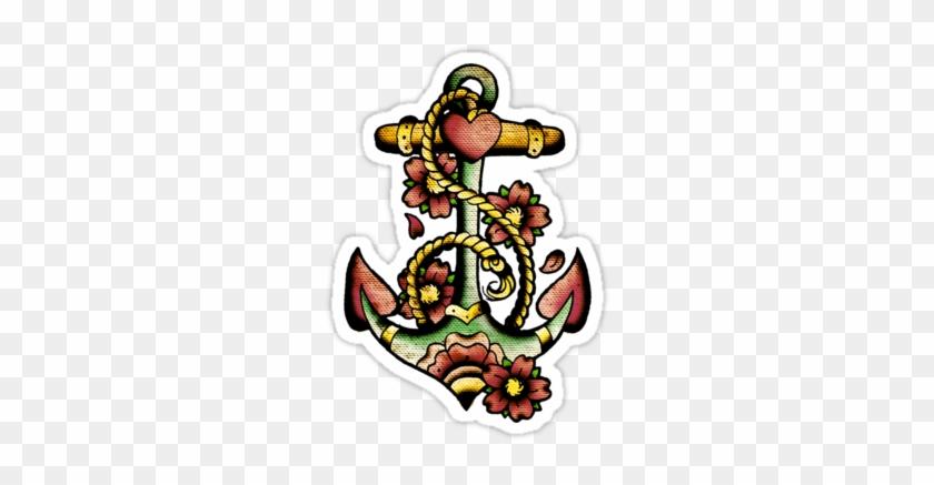 Old School Anchor Tattoo Designs #1093776