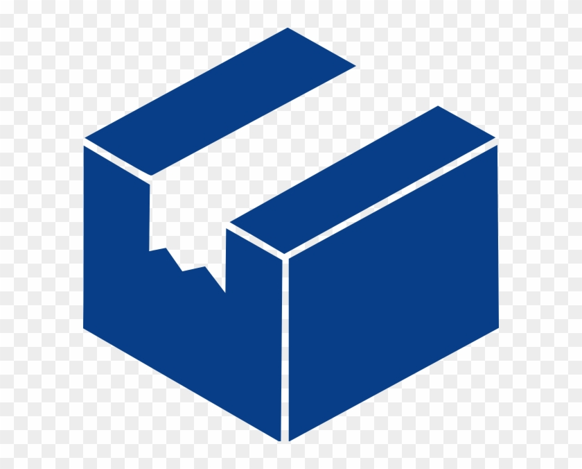 Blue Package Box Clip Art At Clker - Cube Form #1094878