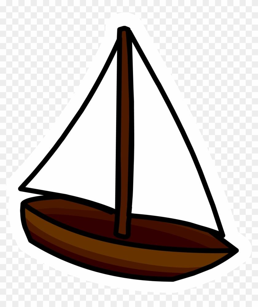 Toy Sailboat Pin - Toy Sailboat #1095388
