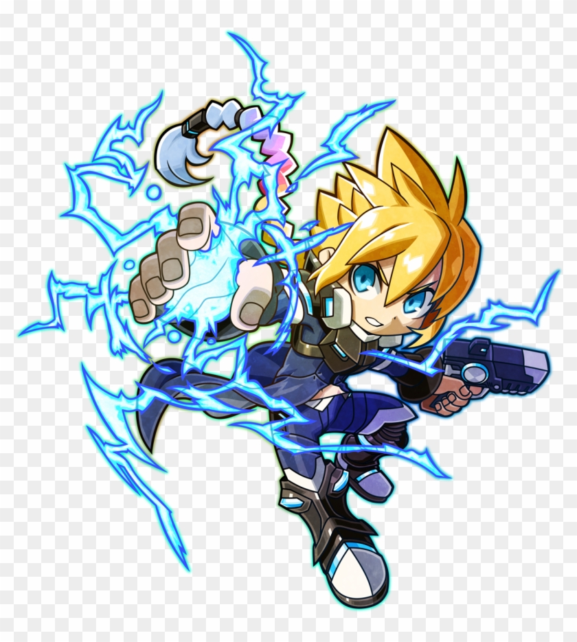 Mighty Gunvolt Burst Gunvolt Art - Mighty Gunvolt Burst Gunvolt #1095614