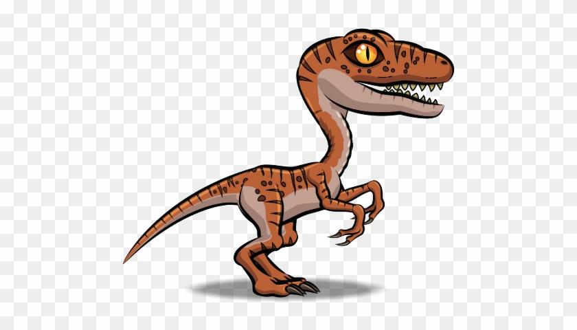 Velociraptor Tyrannosaurus Cartoon Dinosaur Animation - Dinosaur 2d Png #1095698