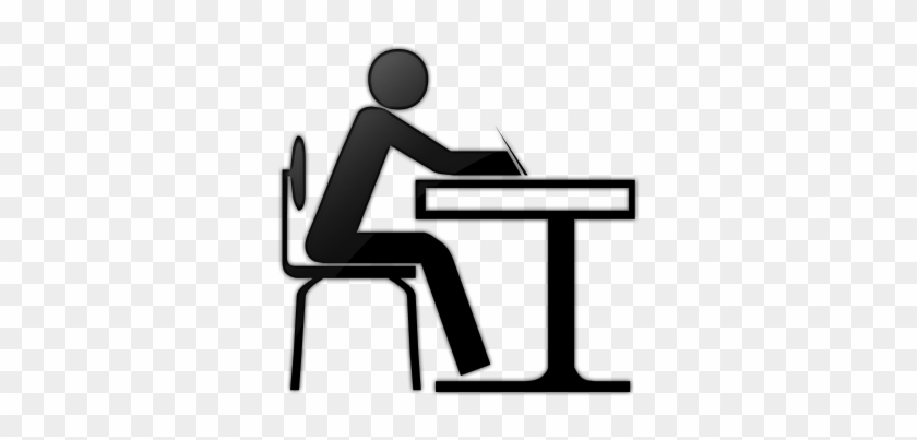 I Work Full Time, And Have Completed My Administrative - Student At Desk Icon #1096027