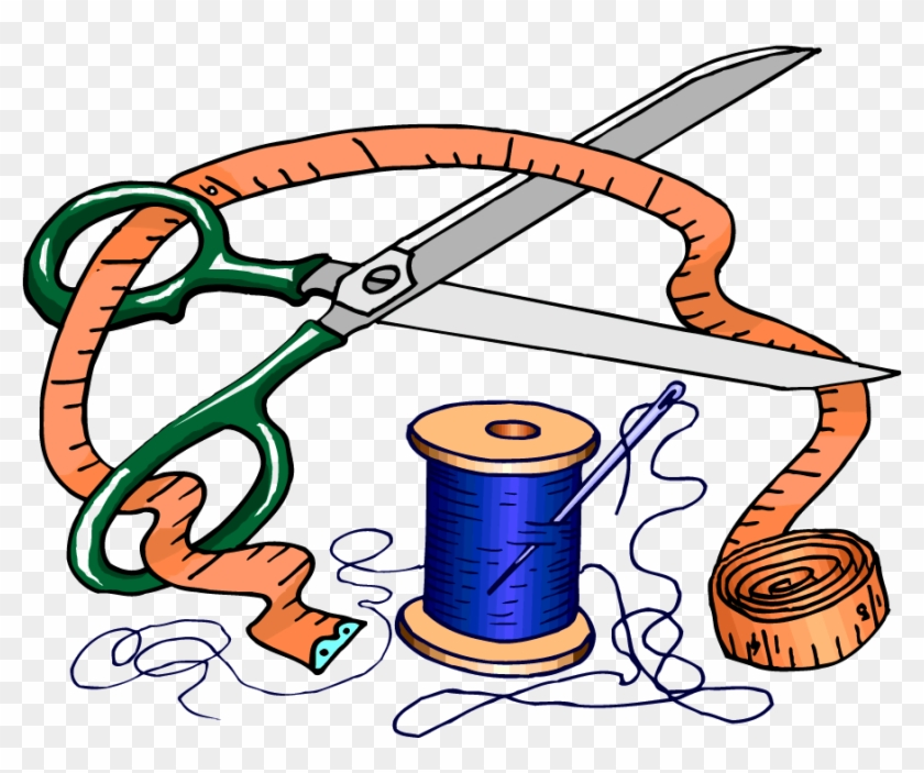 Vintage Sewing Clipart - Dressmaking Tools And Equipment #1096767