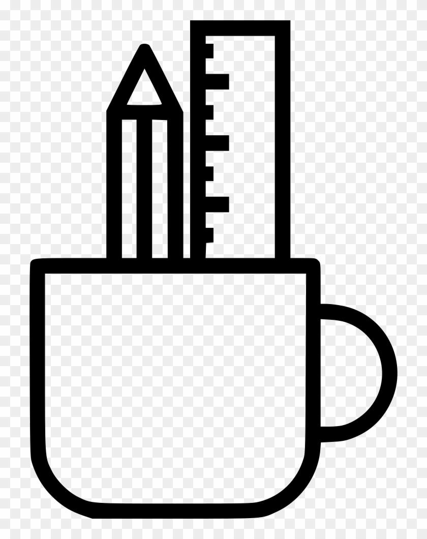 Pencil Ruler Mug Holder Design Drawing Write Comments - Pencil Ruler Mug Holder Design Drawing Write Comments #1096957