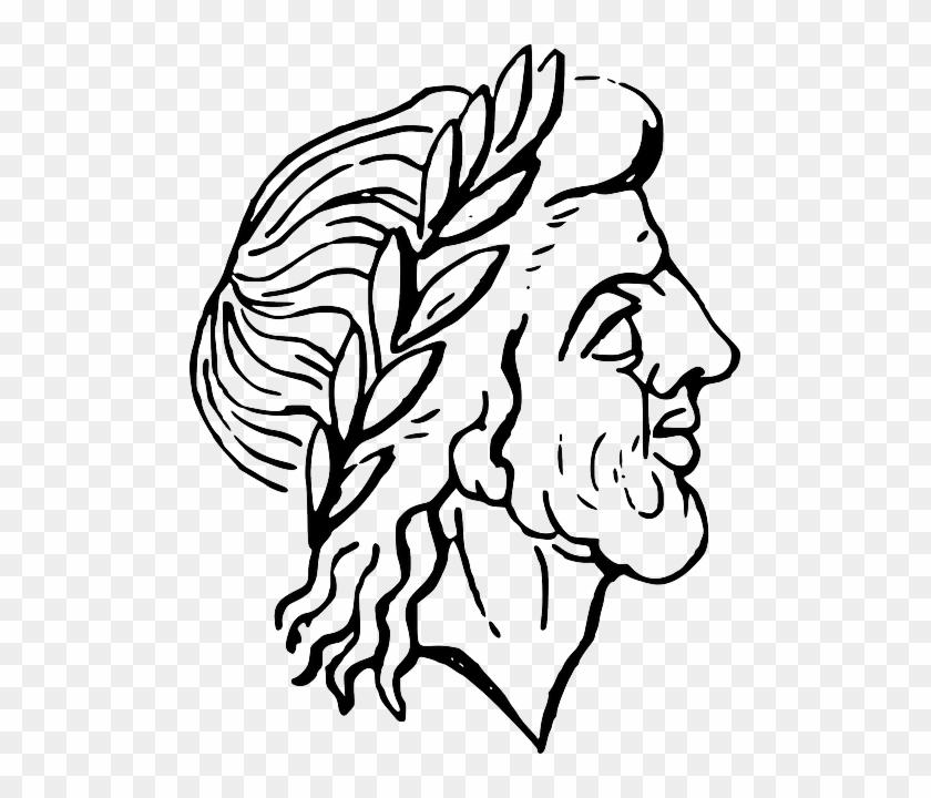 Cartoon Head, Outline, People, Man, Face, Person, Cartoon - Ancient Roman Clip Art #1097098