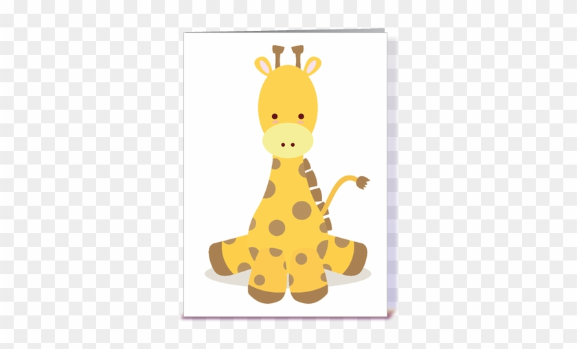 Giraffe Birthday Card Giraffe For Baby Card Google - Cute Baby Giraffe Png #1097126