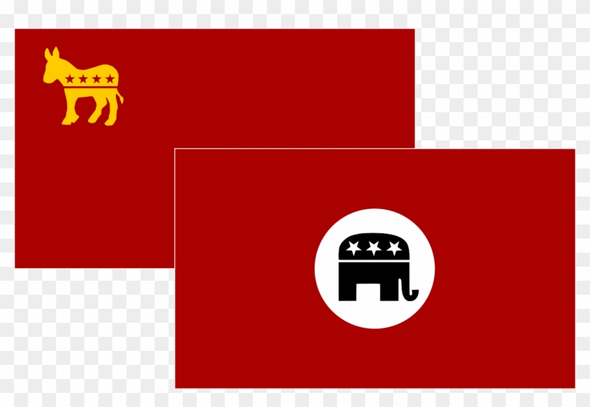 Elephant Republican Party 28, Buy Clip Art - Commie Democrats Vs Nazi Republicans #1097226
