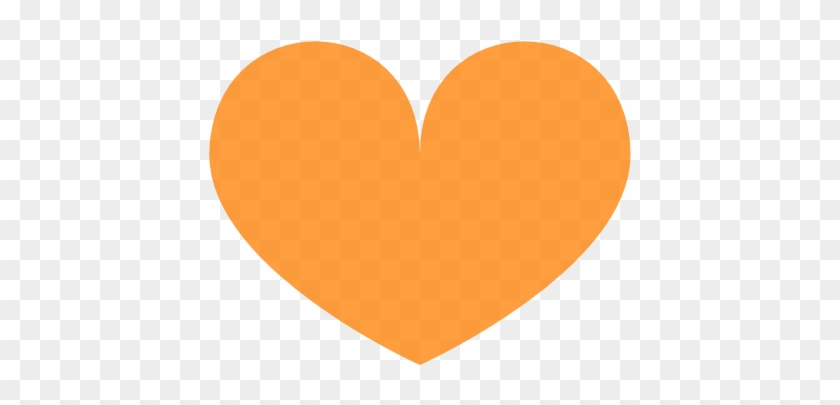 28 Collection Of Orange Heart Clipart - Heart #1097473