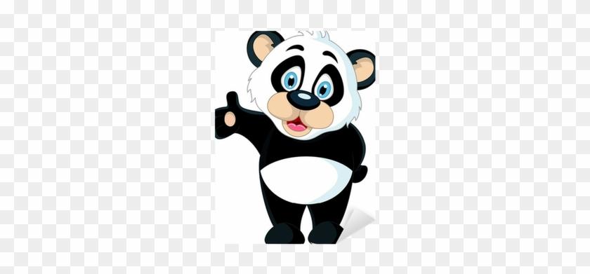Panda Holding Blank Sign #1097690