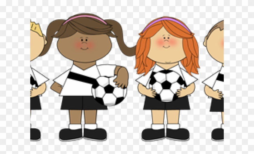 Team Clipart Sport Team Cartoon Girl Soccer Players Free Transparent Png Clipart Images Download