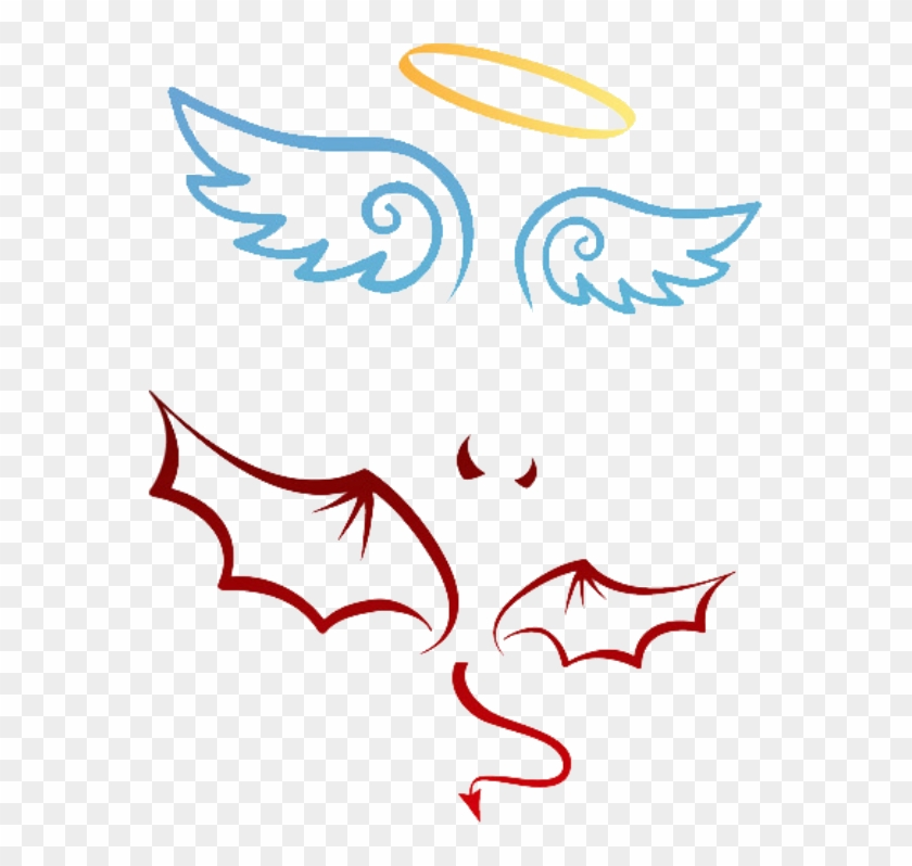 Angel Devil Tattoo Vector - Free Transparent PNG Clipart Images Download